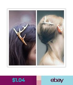 7bae19794c  1.09 - Boho Gold Antler Hair Cuff Clip Headband Hairpin Accessory Goth  Punk  ebay  Fashion