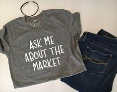 Items similar to Ask me About the Market Fitted Crew Neck Shirt Real Estate School, Real Estate Career, Real Estate Business, Real Estate Tips, Selling Real Estate, Real Estate Investing, Real Estate Marketing, Business Tips, Becoming A Realtor