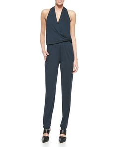 Sleeveless+V-Neck+Jumpsuit+by+Donna+Karan+at+Neiman+Marcus.