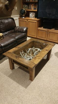 Deer Antler Sheds Coffee Table