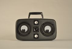 Bass for your case: Vintage suitcases become functional old-school boomboxes   Dangerous Minds