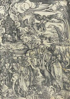 Albrecht Dürer - The Whore of Babylon, from: The Apocalypse; Creation Date:circa 1496-1511; Medium: woodcut; Dimensions: 15.55 X 11.02 in (39.5 X 28 cm)