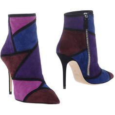 Roberto Festa Ankle Boots (375 AUD) ❤ liked on Polyvore featuring shoes, boots, ankle booties, purple, leather boots, short boots, ankle boots, high heel stilettos and leather ankle bootie