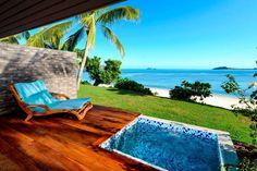 Book your island getaway at Sheraton Resort & Spa, Tokoriki Island, Fiji. Our five-star resort is located on Tokoriki, in the gorgeous Mamanuca Islands. Fiji Hotels, Beach Resorts, Fiji Honeymoon, Honeymoon Ideas, Fiji Culture, Fly To Fiji, Jimbaran Bali, Visit Fiji, Fiji Beach