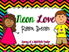 Neon Love Room Decor Pack | Edworld Exchange | Where Educators Buy and Sell Resources