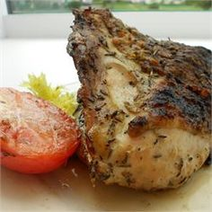 Grilled Greek chicken. Make under the broiler using the same amount of time listed.