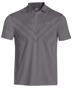 A handsome tonal chevron at the front adds performance to this stylish Under Armour polo, featuring breathable ArmourVent mesh and anti-pick fabric that looks great longer.   Polyester   Machine washa
