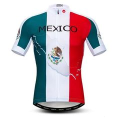 Mexico Cycling Jersey - The Cool Dude Shop Cycling Jerseys, Cycling Gear, Cycling Outfit, Cycling Clothing, Outdoor Companies, Cycling Quotes, Mesh Clothing, Bike Components, Bicycle Design