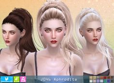 Sims 4 CC's - The Best: Aphrodite Hair for Females by Newsea