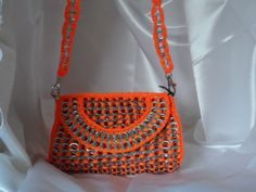 Purse handmade with recycled pop tabs fun unique por PoptabsPurses