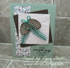 Christmas Pines stamp set, Pretty Pines Thinlits Dies, Holiday Sneak Peak