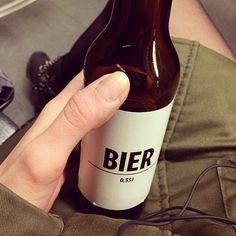 """""""Schönes Bier, kein Augenkrebs! #bierbier #type #sanserif #caps #cleandesign #beerforlauris #berlin #drinkupandgetwasted"""""""