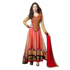Buy Salesway Red Net Dress Material by salesway, on Paytm, Price: Rs.1199?utm_medium=pintrest