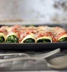 """""""Created by my mum as a way to disguise spinach, this soon became my favourite dinner. Makes 8 Spinach Rolls; Serves Tip: Serve with seasonal salad. Spinach Rolls, Iron Rich Foods, Scones, Vegetable Pizza, Yummy Treats, Vegetarian Recipes, Tasty, Herbs, Lunch"""