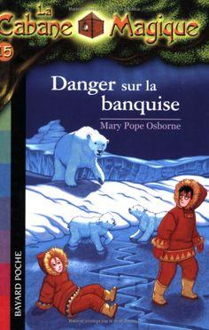 LECTURE - La Cabane Magique, Tome 15 : Danger sur la banquise de Mary Pope Osborne - Danger sur la banquise, Tom et Léa se retrouvent au pôle Nord. Il y fait atrocement froid ! Vêtus de manteaux en peau de phoque prêtés par un chasseur, ils partent explorer la banquise. Ils s'amusent comme des fous à faire du toboggan sur la glace ! Mais quand vient le moment de rentrer... Tom et Léa doivent résoudre quatre énigmes pour récupérer leur carte MB confisquée par l'enchanteur Merlin.