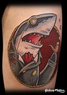 Fun dapper shark by Golem.