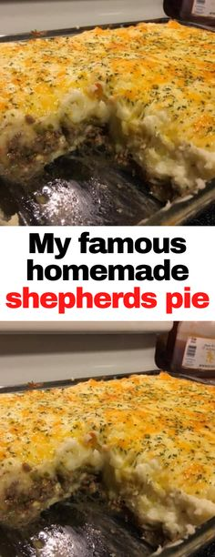 Entree Recipes, Meat Recipes, Dinner Recipes, Cooking Recipes, Beef Dishes, Food Dishes, Homemade Shepherd's Pie, Pork And Beef Recipe