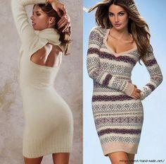 Рукодельницам: Одеваемся со вкусом. Зимние вязаные платья . Кройка, шитье, вязание - способы и приемы