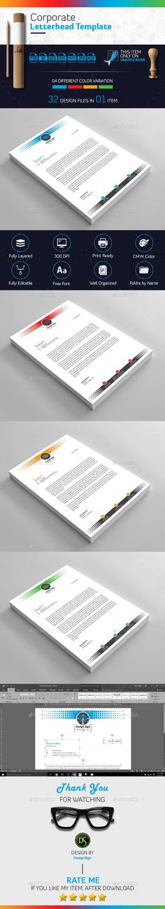 Letterhead Design, Letterhead Template, Print Templates, Design Templates, Stationery Printing, Ai Illustrator, Print Magazine, Brand Packaging, Guided Reading