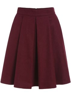 Red Pleated Woolen Skirt , High Quality Guarantee with Low Price!