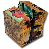 Sorprèn als teus amics jugant amb aquest cub màgic decorat amb imatges d'art egipci. No podràs parar!