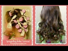 ▶ No Heat Curls, Sponge Rag Rollers Tutorial - YouTube