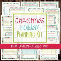 Hey guys! Today I'm sharing something new and special I have going on over in my Etsy shop! This year I've created a cute & super functional printable Christmas planner for all you folks out there like me who love to be organized! This is a PDF file that can be printed & placed in …
