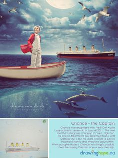 The Drawing Hope Project by Shawn Van Daele turns sick kids drawings into fairy tale photos - Chance, The Captain - 3