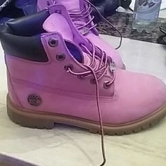 Boots Breast Cancer addition Timberlands. Little spots, but suede cleaner will get it right off. Timberland Shoes Combat & Moto Boots