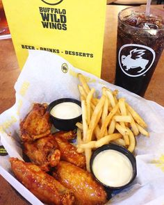 You know lunch is good when you need a stack of napkins on the side! Check out Buffalo Wild Wings when you visit Statesboro for great wings!