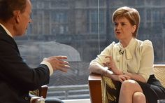 Nicola Sturgeon answering questions from the BBC's Andrew Marr