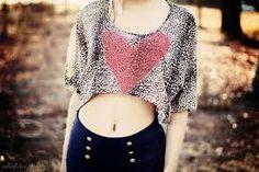 High waist jeans & crop top