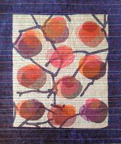 A new sample for the Lag på lag Kvist (Layer upon layer Branch) class which I will be teaching at the Annual meeting of the Norwegian Quilt. Linear Art, Rug Hooking, Pattern Wallpaper, Surface Design, Patches, Weaving, Quilts, Stitch, Rugs