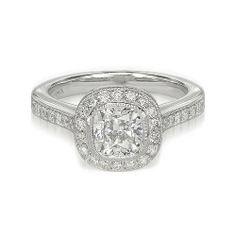 Silver Engagement Rings, Engagement Ring Settings, Wedding Rings, Wedding Bells, Cushion Cut Diamonds, Cushion Diamond, Round Cut Diamond, Stone Rings, White Gold