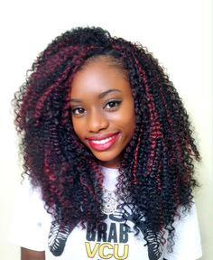 crochet braids with bohemian curl | Freetress Bohemian 1B530