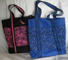 Free Sewing Pattern for an All Purpose Tote Bag with Pockets Galore - Great for a Weekend or as a Book Bag! - Step 1 Materials and Cutting