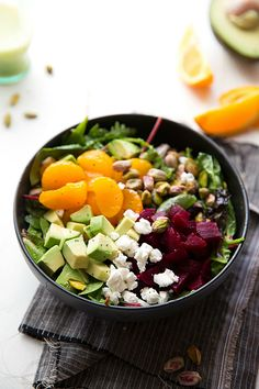 Super quick beet and goat cheese salad with a delicious orange honey poppyseed dressing -- perfect for Thanksgiving or Christmas!