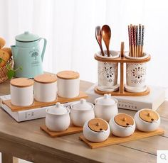Kitchen utensils creative ceramic seasoning bottle and sugar bowl seasoning box set household storage bottle kitchen storage jar Kitchen Jars, Kitchen Items, Home Decor Kitchen, Kitchen Utensils, Kitchen Knives, Cool Kitchen Gadgets, Cool Kitchens, Jar Storage, Kitchen Storage