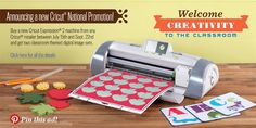 #Cricut Back To School Promotion. Welcome Creativity to the Classroom!