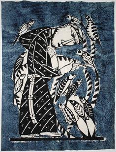 Sadao Watanabe (1913-1996), St. Francis, Japanese Kappa-ban Print Sadao Watanabe. Thank you,veareflejos&yama-bato.