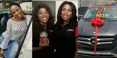 Linda and Sandra Ikeji  Top Nigerian blogger, Linda Ikeji has bought her younger sister, Sandra Ikeji a N30 million Mercedes Benz GLE.