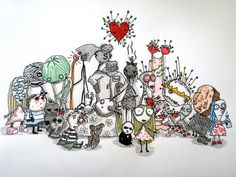 I love the art work by Tim Burton, and i have watched many of his films. They're just so inspirational!