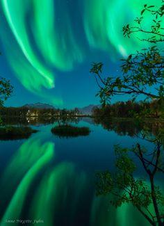 Auroras Taken by Anne Birgitte Fyhn on September 20, 2016 @ Lake Prestvannet, Tromsø, Norway