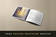 Free Square Brochure Mock-up