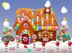 Decorate your own virtual gingerbread house online beginning in November:    http://bleedingespresso.com/2007/12/decorate-your-own-virtual-gingerbread-house.html