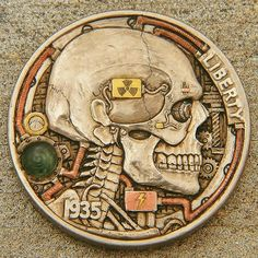 skeleton watches for men leather band Custom Coins, Skeleton Bones, Hobo Nickel, Skeleton Watches, Old Coins, Coin Collecting, Wedding Ring Bands, Precious Metals, My Images
