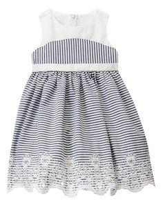 Striped Eyelet Dress at Gymboree