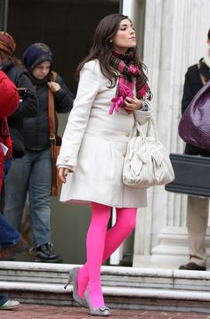 LOVE the hot pink tights!