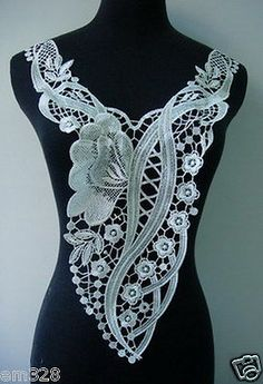 VY71 Trendy Floral Flower Bodice Lace Venice Applique Motif Cream | Crafts, Sewing, Embelishments & Finishes | eBay!