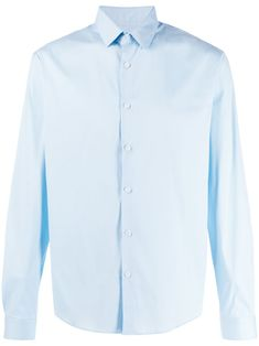 Blue cotton blend plain button shirt from sandro paris featuring a classic collar, a front button fastening, long sleeves and a straight hem. Sandro, Camisa Lisa, Paris, Size Clothing, Everyday Fashion, Baby Design, Women Wear, Buttons, Shirt Dress